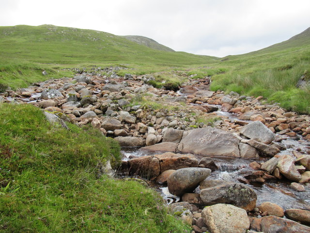 Confluence of Allt Luaidhe and Allt Feith a' Mhoraire in Strathspey