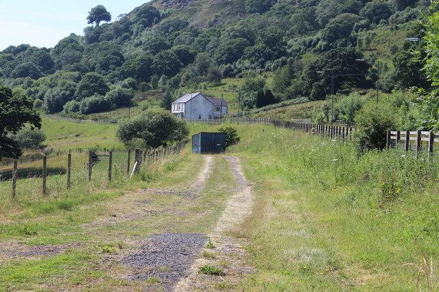 Track alongside A4048, New Road