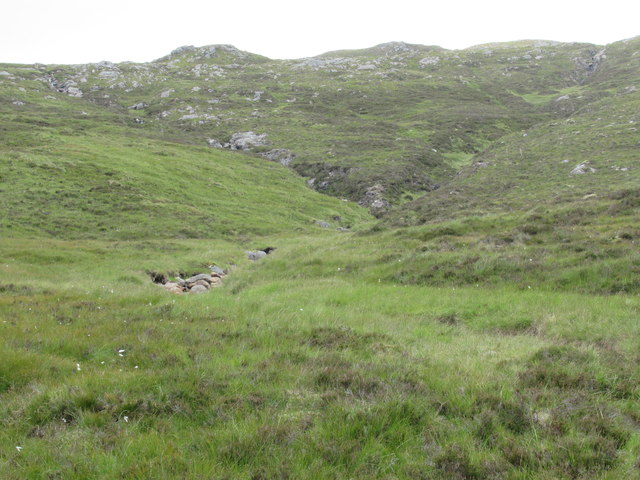 Confluence up in headwaters of Allt Feith a' Mhoraire above Speyside