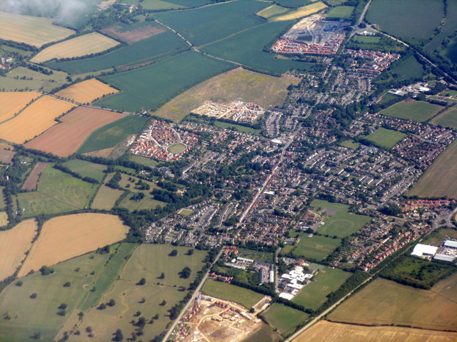 Buntingford from the air