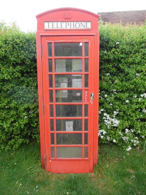 Red K6 Telephone Box at Pyrton