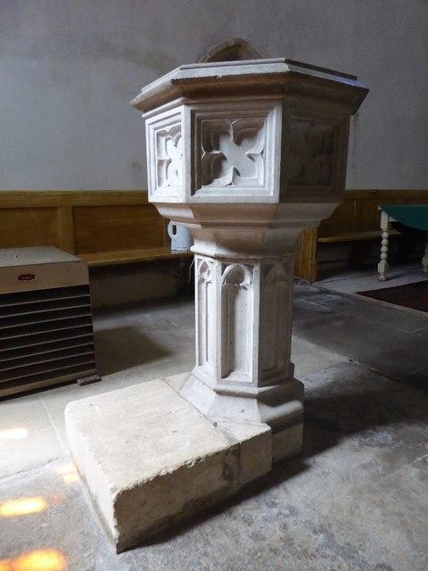Font in Aldsworth church