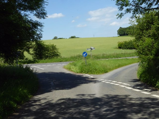 Road junction on the B4425