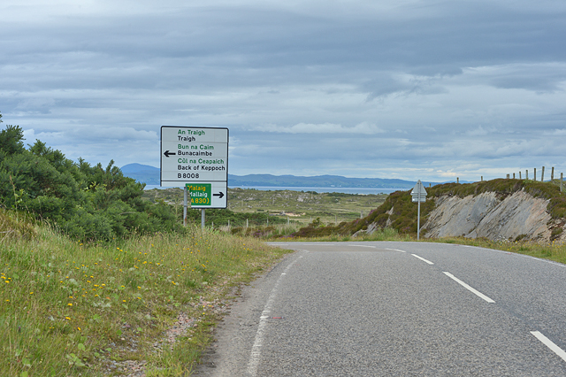 Approaching road junction north of Arisaig