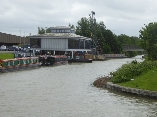 Modern building at Hilperton Marina