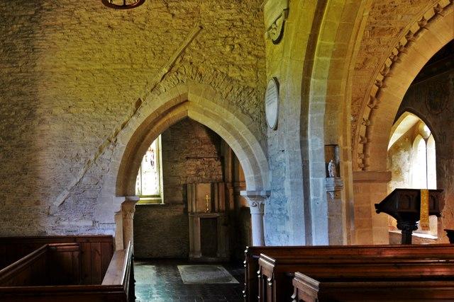 Asthall, St. Nicholas' Church: The Cornwell Chantry entrance
