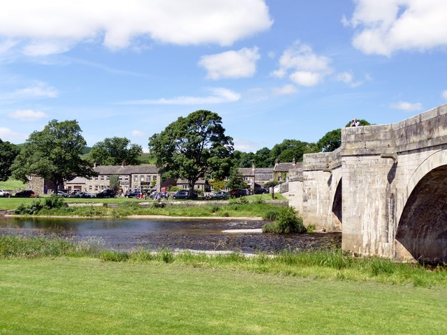 The RiverWharfe at Burnsall Bridge