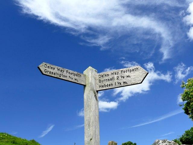 Dales Way footpath signpost