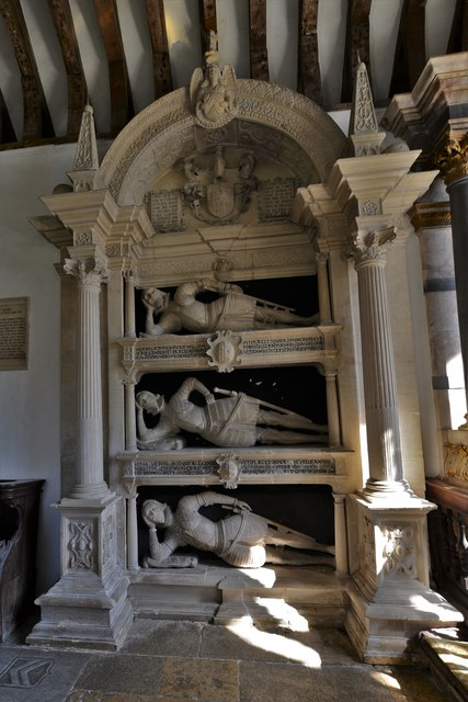 Swinbrook, St. Mary's Church: The Fettiplace memorial 1