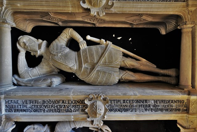 Swinbrook, St. Mary's Church: The Fettiplace memorial 2