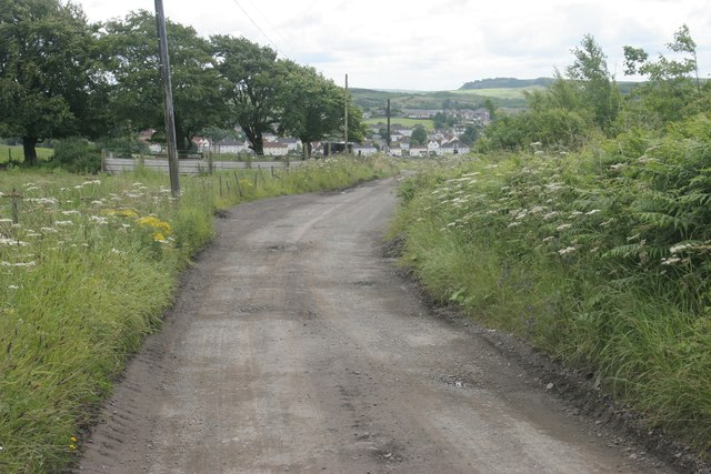 Road from Capellie Farm