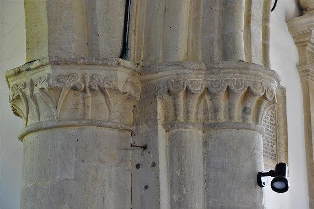 Swinbrook, St. Mary's Church: Capitals