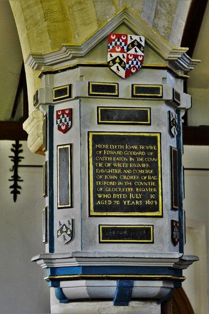 Swinbrook, St. Mary's Church: Joan Goddard memorial