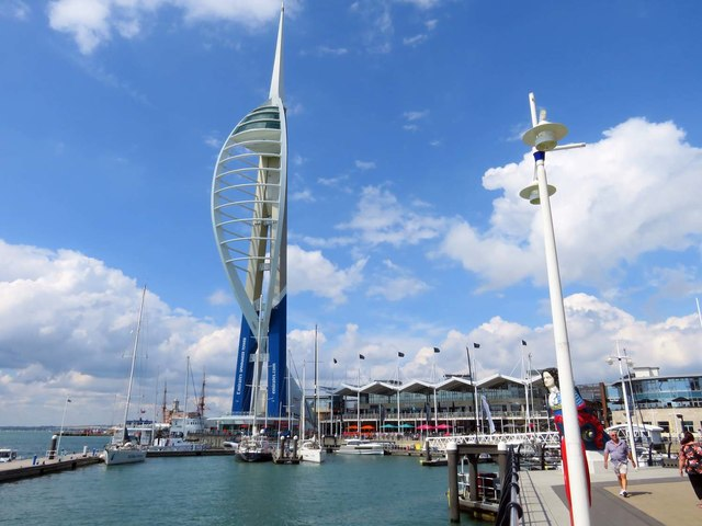 The Spinnaker Tower and Gunwharf Quays