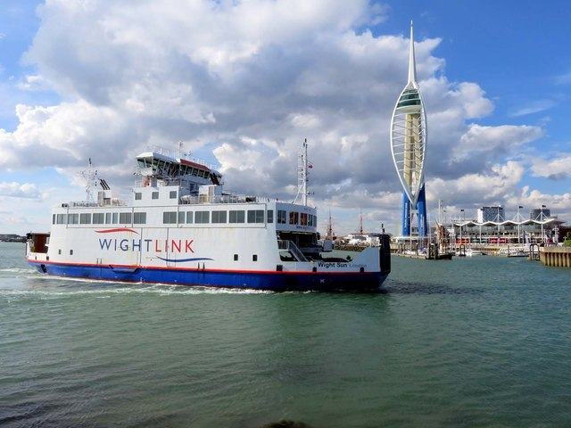 The Wight Sun and the Spinnaker Tower