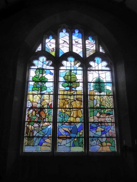 East window of chapel at Great Chalfield