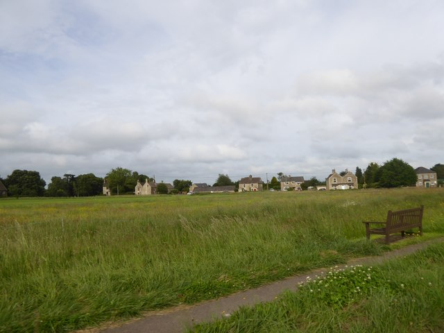 Looking east across The Common, Broughton Gifford