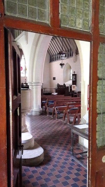 North aisle doorway at St John the Evangelist, Little Tew