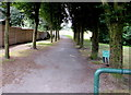 ST2178 : Tree-lined path into a recreation area, Rumney, Cardiff by Jaggery