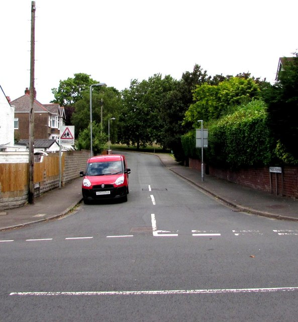 Southern end of Tredelerch Road, Rumney, Cardiff
