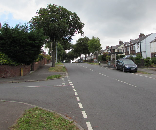 East along New Road, Rumney, Cardiff