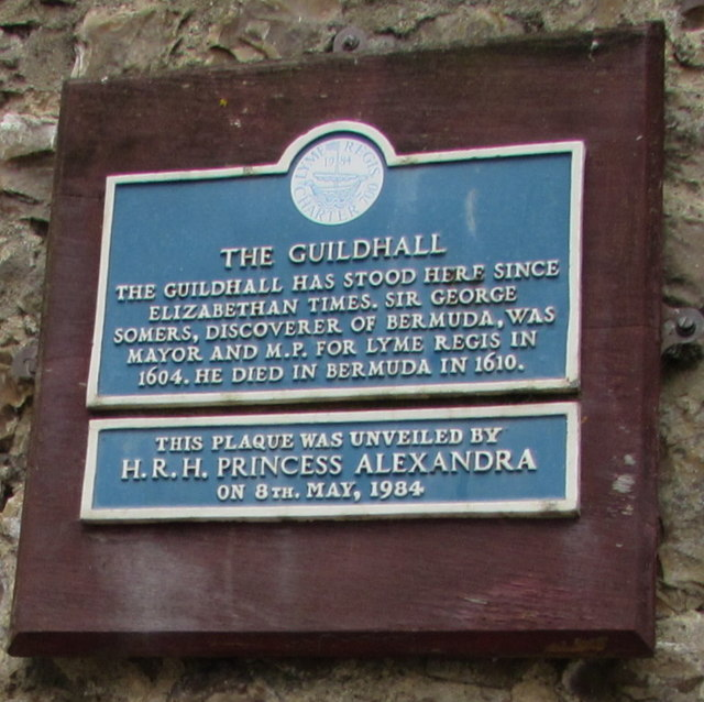 Guildhall plaque, Lyme Regis