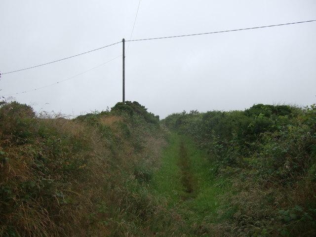 Farm track (bridleway) towards Highdowns