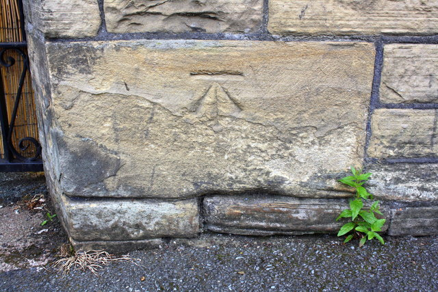 Benchmark on Morley Street wall