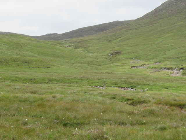 Glen containing Allt Feith a' Mhoraire, tributary of the Spey above Melgarve