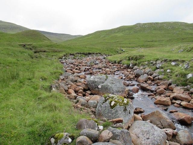 Allt Luaidhe above Melgarve on upper Speyside