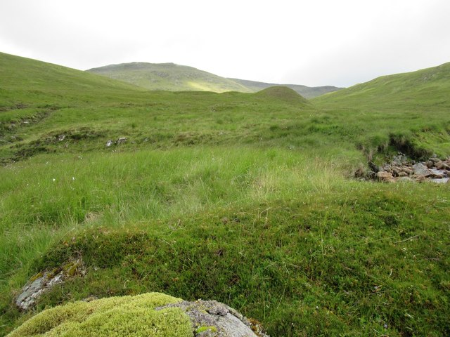 View of lower slopes of Meall a' Chuit above upper Speyside