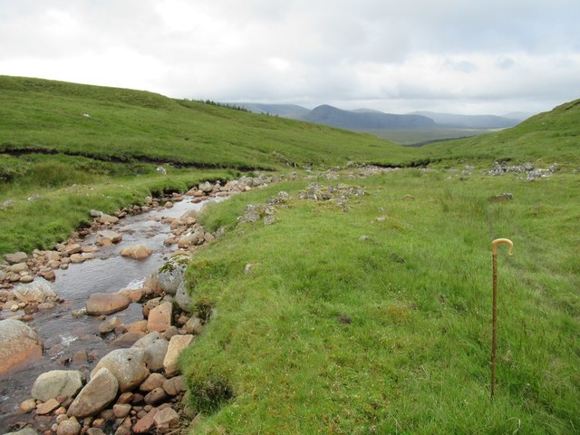 View from upstream of Luaidhe/Mhoraire confluence of Spey tributaries