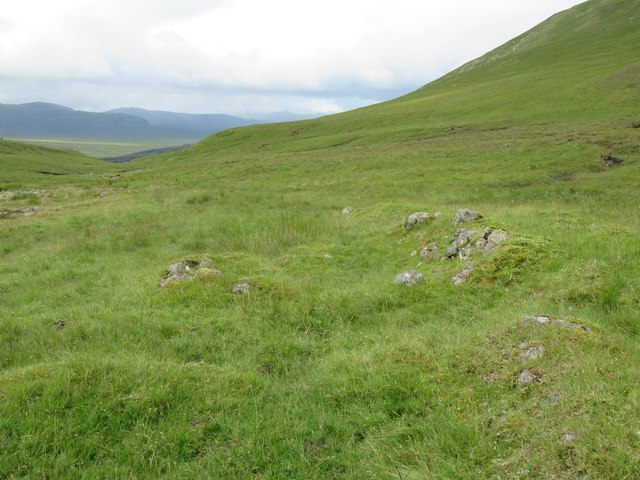 Possible ruin of shieling above upper Speyside