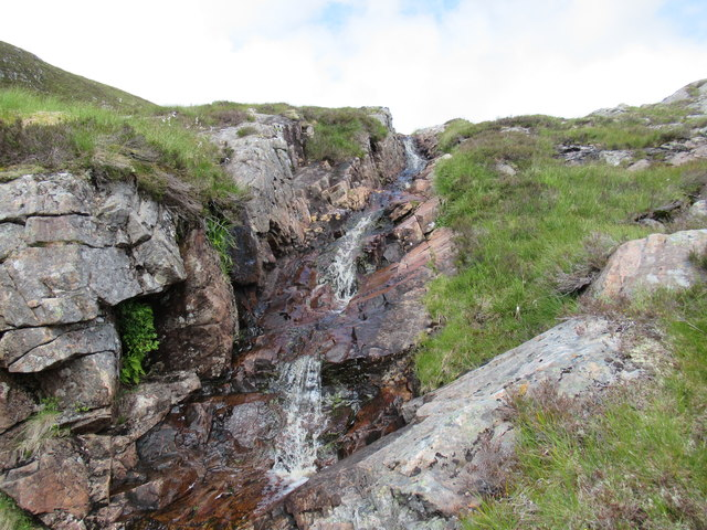 Rocky burn course high above Speyside
