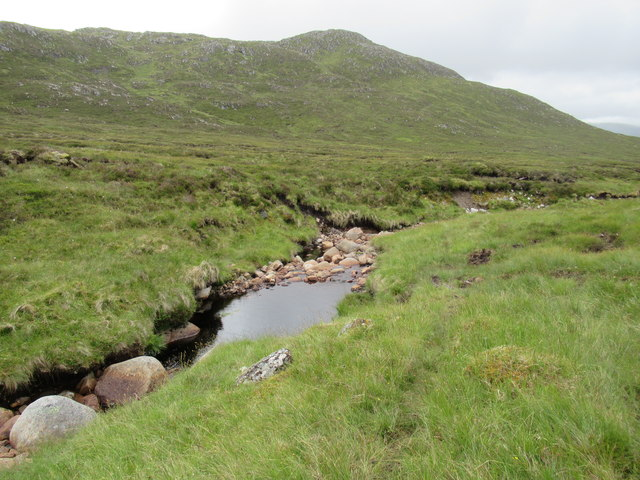Confluence of minor burns high above upper Speyside