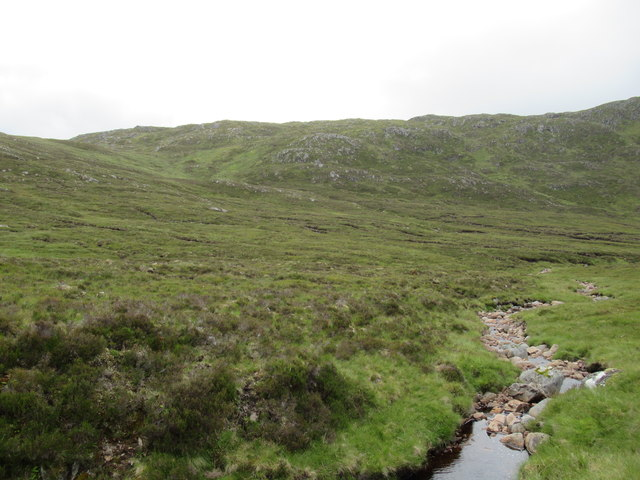 View south-east from foot of Carn Dearg in upper Speyside