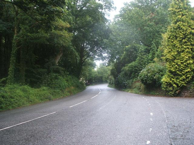 A393 towards Falmouth