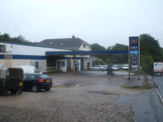 Service station on the A393