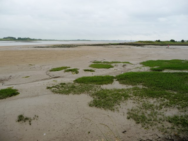 Fleetwood's Dock Channel, an hour before low tide