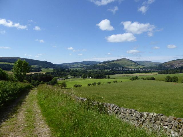 View towards Lee Pen and Innerleithen