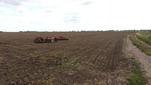Plough awaiting its next job