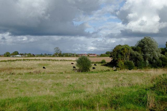 Farmland near Tetchill in Shropshire