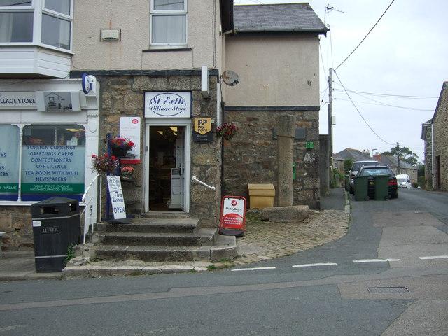 Cross beside the Post Office, St Erth