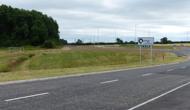 New road and roundabout at New Lubbesthorpe