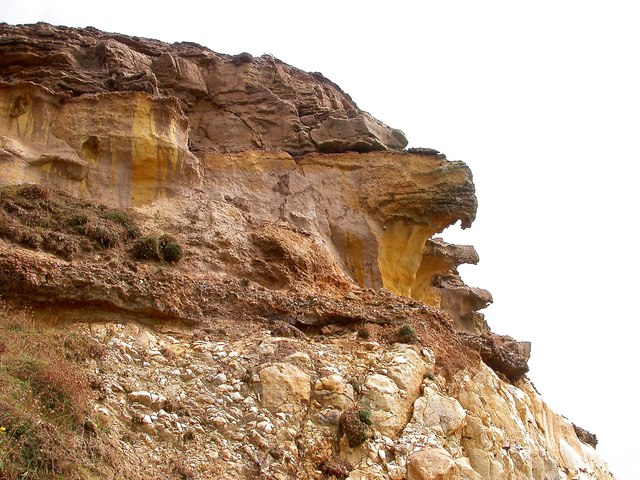 Cliffs at Burrow Head west of Newhaven