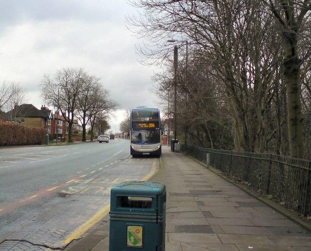 Bus stop at Gerrards