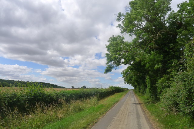 Counthorpe Lane leading towards Counthorpe