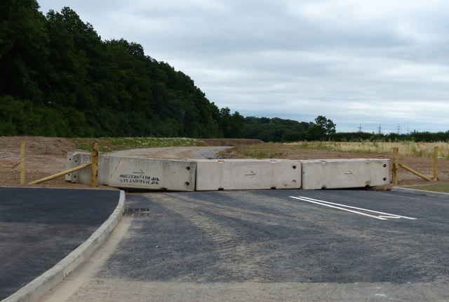 Road under construction at New Lubbesthorpe