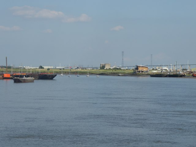 View downriver from Erith Pier
