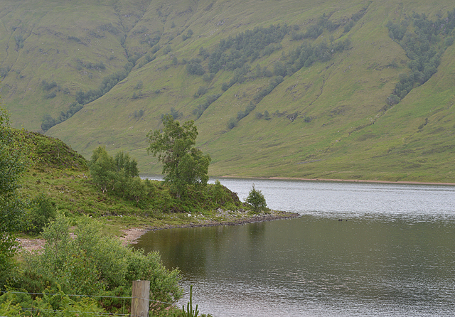 Looking across Loch a' Chroisg